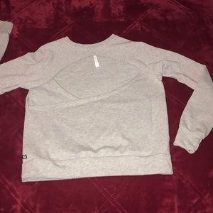 Fabletics open back sweatshirt. Like new!